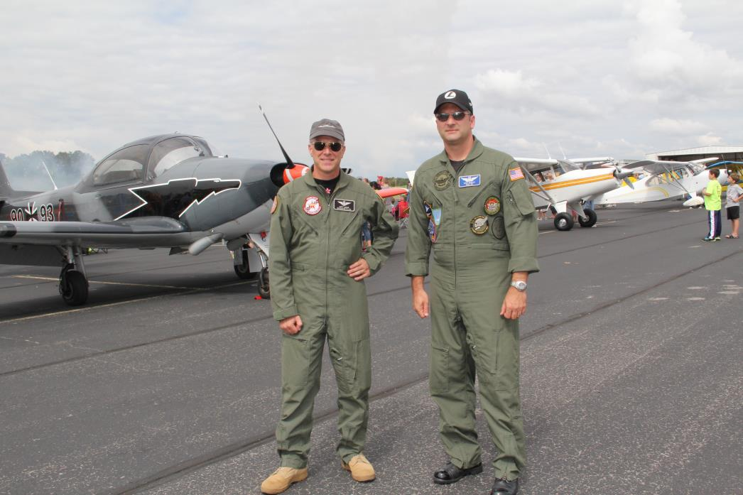 Men in pilot jumpsuits